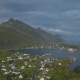 Aerial View of Small Village in Norway - VideoHive Item for Sale