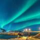 Northern lights above bridge with illumination in Norway - PhotoDune Item for Sale