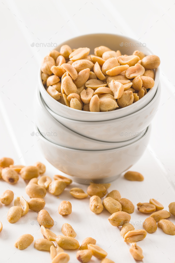 Salted roasted peanuts. - Stock Photo - Images