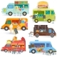 Food Truck Vector Street Food-Truck Vehicles - GraphicRiver Item for Sale