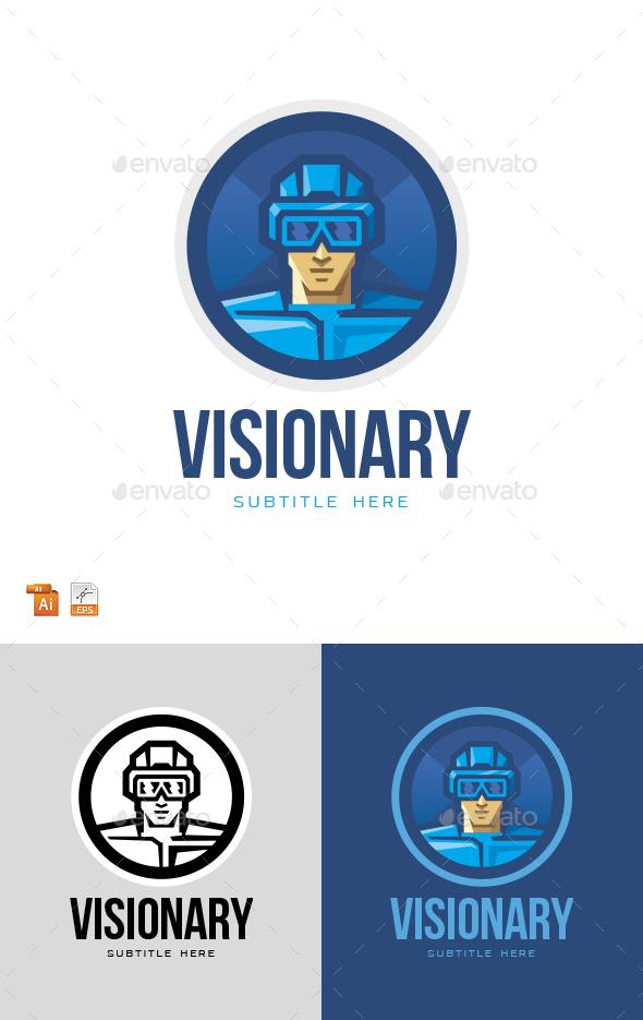 Virtual Vision Reality Logo - Humans Logo Templates