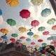 Colorful Umbrellas Hanging in the Sky - VideoHive Item for Sale