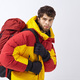 Mountaineer in winter clothes with hiking equipment on white isolated background - PhotoDune Item for Sale