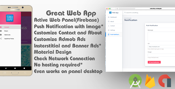 WebView App & Admin Panel (Firebase)            Nulled