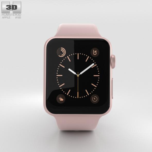 Apple Watch Series 2 38mm Rose Gold Aluminum Case Pink Sand Sport