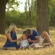 Happy Family Having Picnic Outdoors - VideoHive Item for Sale