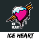 Ice Heart - T shirt Design - GraphicRiver Item for Sale