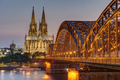 The imposing cathedral of Cologne at dusk - PhotoDune Item for Sale