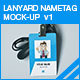 Lanyard Nametag Mock-up v1 - GraphicRiver Item for Sale