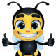 Bee Cartoon Character with 10 Poses - GraphicRiver Item for Sale
