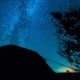 Stars . Camping Under the Stars.  Stars Moving Over Trees and Tent - VideoHive Item for Sale