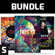 Party Flyer Bundle Vol.108 - GraphicRiver Item for Sale