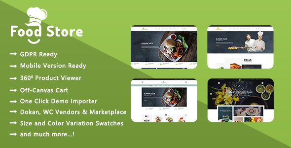 Food Store - Organic Food and Restaurant WooCommerce WordPress Theme