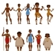 Native Tribe People Vector Characters - GraphicRiver Item for Sale