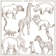 African Animals and Birds Sketch - GraphicRiver Item for Sale