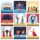 Singers and Musicians on Vector Concert Stage - GraphicRiver Item for Sale
