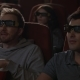 Friends Watching 3d Movie in Cinema. 3d Cinema Entertainment Concep - VideoHive Item for Sale