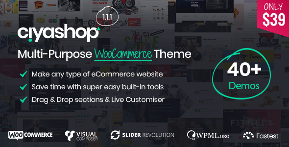 CiyaShop - Responsive Multi-Purpose WooCommerce WordPress Theme - WooCommerce eCommerce