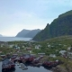 Aerial View of Small Fishing Village in Norway - VideoHive Item for Sale