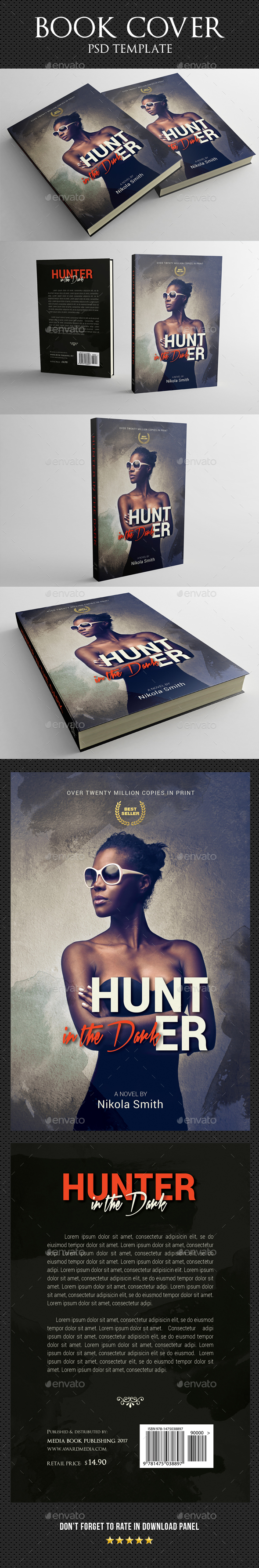 Book Cover Template 52 - Miscellaneous Print Templates