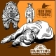 Hunters and Bear with Rhino - GraphicRiver Item for Sale