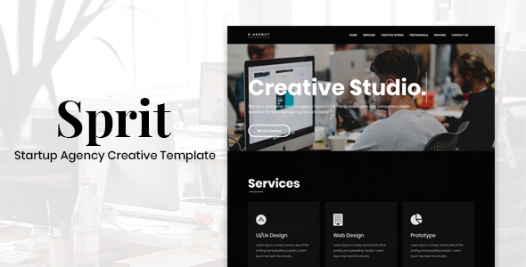 Sprit - Startup Agency Creative Template