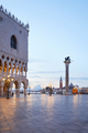 Saint Mark square with column with winged lion in Venice - PhotoDune Item for Sale