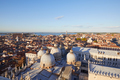 Aerial view of Venice rooftops, Saint Mark Basilica domes - PhotoDune Item for Sale