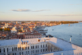 Aerial view of Venice before sunset with coast and rooftops - PhotoDune Item for Sale