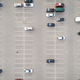 Aerial view of a car parked alone in a parking free lots - PhotoDune Item for Sale