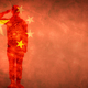 Chinese grunge flag with soldier silhouette. - PhotoDune Item for Sale