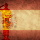 Spanish grunge flag with soldier silhouette. - PhotoDune Item for Sale