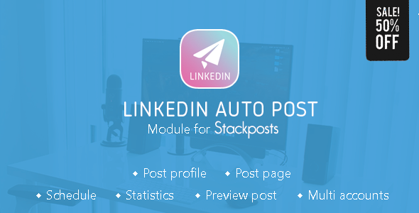 Linkedin Auto Post Module for Stackposts            Nulled