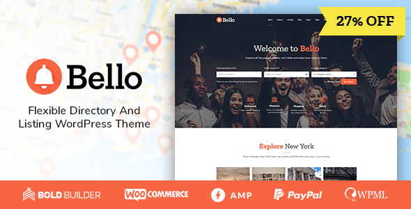 Bello - Directory & Listing WordPress Theme - Directory & Listings Corporate