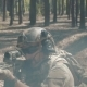 US Soldiers in Camouflage Fight with the Enemy in a Smoky Forest - VideoHive Item for Sale