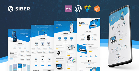 Siber | SaaS, Software & Mobile App for SaaS/Software WordPress Theme - Software Technology