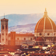 Skyline of Florence, Italy. Cathedral of Saint Mary of the Flowers at sunset. - PhotoDune Item for Sale
