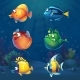 Set of Cartoon Fish in Underwater World - GraphicRiver Item for Sale