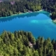Lake Lago Di Fusine Superiore Italy Alps. Aerial FPV Drone Flights. - VideoHive Item for Sale