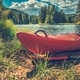 Red Kayak on the Shore - PhotoDune Item for Sale