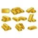 Gold Bars Set - GraphicRiver Item for Sale