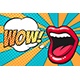 Pop Art Mouth with Wow Bubble - GraphicRiver Item for Sale
