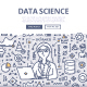 Data Science Doodle Concept - GraphicRiver Item for Sale