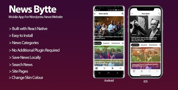 News Bytte - Wordpress News Website Mobile Application            Nulled