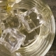 in the Glass with Artificial Ice Pouring Whisky Top View - VideoHive Item for Sale