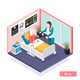 Elderly People Isometric Composition - GraphicRiver Item for Sale