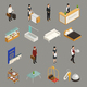 Hotel Service Staff Isometric Icons - GraphicRiver Item for Sale