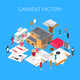 Garment Factory Isometric Concept - GraphicRiver Item for Sale
