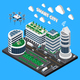 Smart City Technology Isometric Concept