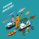 Fishing Isometric Concept - GraphicRiver Item for Sale